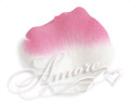 Flamingo White and Fuschia Silk Rose Petals Wedding 100