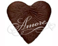 Chocolate Brown Cocoa Heart Shaped Silk Rose Petals Wedding 100