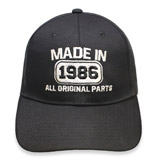30th Anniversary Made In 1986 All Original Parts  Hat Cap