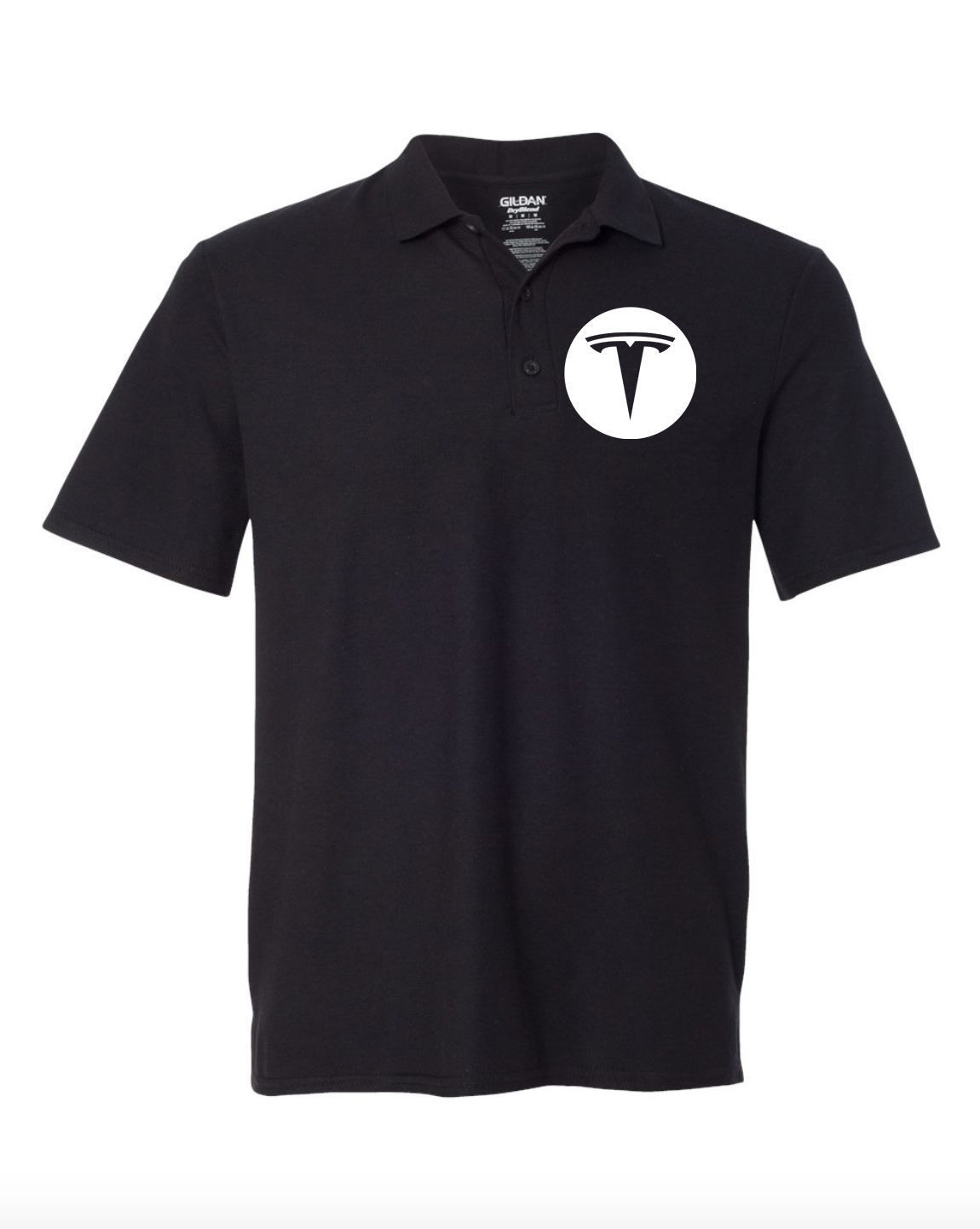 Tesla Model S Model 3 Black POLO T-Shirt