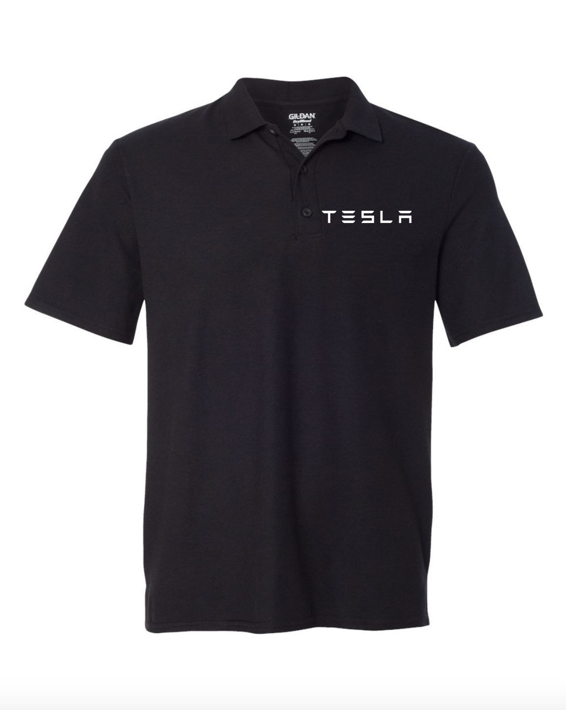 Tesla Motor Black POLO T-Shirt