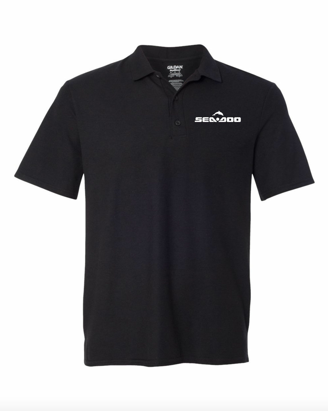 Sea Doo Watercraft  Black POLO T-Shirt Embroidery