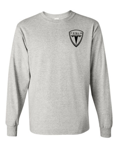TESLA MOTOR Emblem  Long Sleeve T-SHIRT