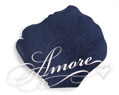 Silk Rose Petals Navy Blue
